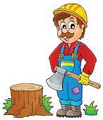 Image with lumberjack theme 1