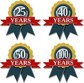 anniversary seal 25 40 50 100 years