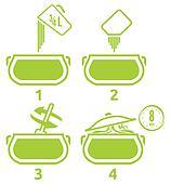 Kitchen icons set how to prepare