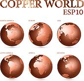Copper world symbol