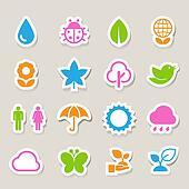 Eco icons set.