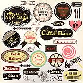 Collection of old styled badges or