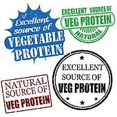 excellent source of vegetable protein stamps