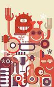 Music Band vector illustration