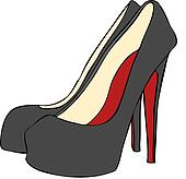 High Heeled Stiletto Shoes Vector