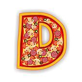 PIZZA alphabet - LETTER  D