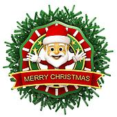 Chritmas ornament with santa claus