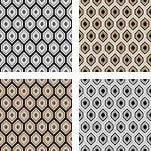 Design seamless hexagon pattern