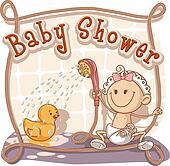 Baby Shower Cartoon Invitation