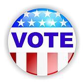 vote badge, VOTE