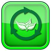 Green square shiny icon
