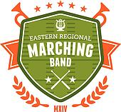 Marching band emblem