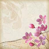 Realistic floral vector background