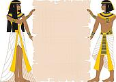 Woman and Man Holding Papyrus