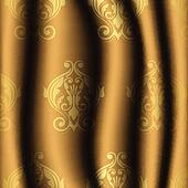 vintage material with gold pattern