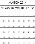 Costumizable Planner Calendar March 2014 big eps file