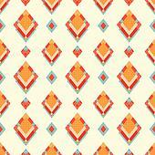 Abstract geometric retro background with diamond-shaped shape.