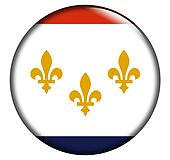 New Orleans Flag Button
