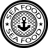 vector sea food stamp
