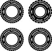 vector radial tubeless hi performance tyre symbols
