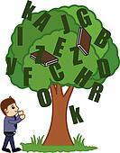 Businessman with Knowledge Tree