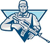 American Soldier Assault Rifle Retr