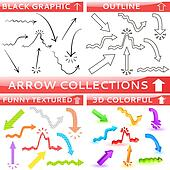 Arrow collection of four different set