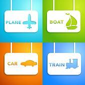 Travel applique background. Vector illustration