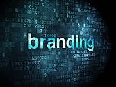 Marketing concept: Branding on digital background