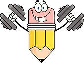 Pencil Training With Dumbbells