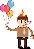 Party Celebration - Cartoon Man