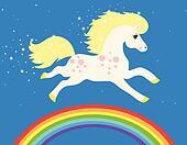 magic horse with stars