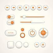 Vector Web User Interface Design Elements