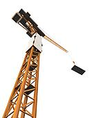 Crane Tower Isolated