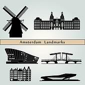 Amsterdam landmarks and monuments