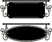 blank cast iron signs
