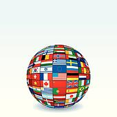 Vector Globe Made from World Flags