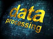 Data concept: Data Processing on digital background