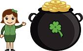 Girl with Cauldron on Patrick's Day