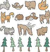 Cute Forest Animals
