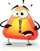 Warning Sign Icon Character