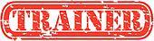 Grunge trainer rubber stamp, vector