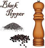Spice Mill Grinder, Black Pepper