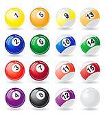 billiards balls illustration