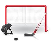hockey set illustration