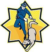 Policeman Police Dog CanineTeam