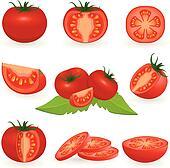 Vector Tomato Clip Art - Royalty Free - GoGraph