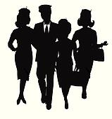 aviation team silhouette