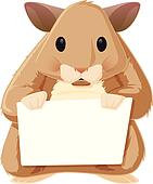 Hamster with a Sign