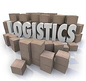 Logistics Word Shipping Boxes Warehouse Efficiency